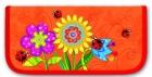 Пенал школьный  Феникс  Цветы на оранжевом Цена: 280 – 50% = 140 рублей