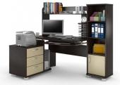 СС 12.21 стол компьютерный эргономичный с надстройкой