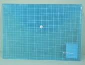 Конверт на кнопке А4 клетка,прозрачный/ассорти