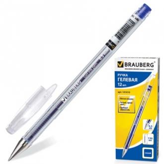 """Ручка гелевая BRAUBERG  """"Jet"""", корпус прозрачный, толщина письма 0,5 мм, синяя"""