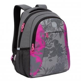 Рюкзак Grizzly RD-142-2 /1 серый - розовый