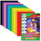 """Цветной картон, А4, 200х290 мм, BRAUBERG """"Kids Series"""" (БРАУБЕРГ """"Детская серия""""), МЕЛОВАННЫЙ, 12цв."""
