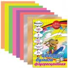 """Цветная бумага А4 BRAUBERG """"Kids Series"""" (БРАУБЕРГ """"Детская серия"""") ФЛУОРЕСЦЕНТНАЯ, 8 л., 8 цв."""