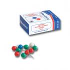Силовые кнопки-гвоздики BRAUBERG (БРАУБЕРГ), цветные (шарики), 50 шт., в пластиковой коробке