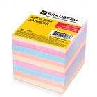 Блок д/записей  Brauberg  9*9*9 цветн.непрокл.