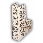 Заготовка деревянная Лоток резной с орнаментом 31х22х6,5см.