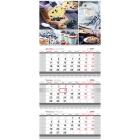 Календарь 2018г. настен.квартальный (3бл.3гр.бл) МИНИ (OfficeSpace)