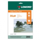 Фотобумага Lomond  А4 200гр. (50л) матовая двухсторонняя