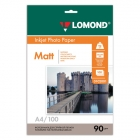 Фотобумага Lomond  А4 90гр./100л/матов/одност