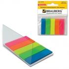 Блок-закладка с липк.слоем /45х12мм/5цв/пластик.неон Brauberg