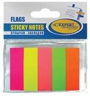 Блок-закладка с липк.слоем бумажн/45мм х12мм х25л/5цв.