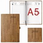 """Ежедневник Brauberg  А5 2018г. Wood """"благородное дерево"""" коричневый (138*213мм)"""