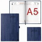 "Ежедневник Brauberg  А5 2018г. Wood ""благородное дерево"" синий (138*213мм)"
