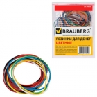 Резинка купюрная Brauberg 50г, 60мм.90шт. цветные