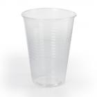 Стакан одноразов. 200мл. пластик.прозрачный