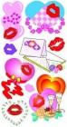 Наклейки Поцелуйчики 6,5х12,5см /европодвес,