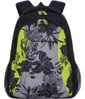 Рюкзак Grizzly RD-142-2 /3 черный - салатовый